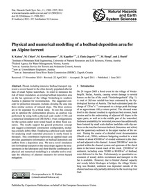 Physical and Numerical Modelling of a Be... by Kaitna, R.