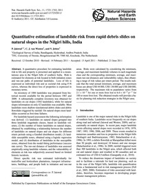 Quantitative Estimation of Landslide Ris... by Jaiswal, P.