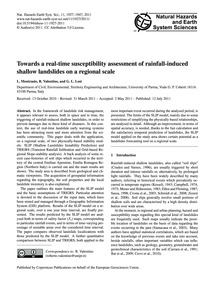 Towards a Real-time Susceptibility Asses... by Montrasio, L.