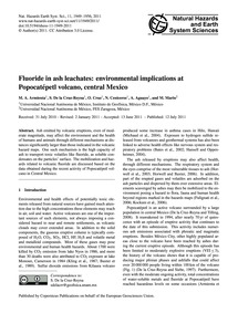 Fluoride in Ash Leachates: Environmental... by Armienta, M. A.