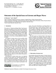 Outcomes of the Special Issue on Extreme... by Pelinovsky, E.