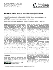 Short-term Retreat Statistics of a Slowl... by Young, A. P.