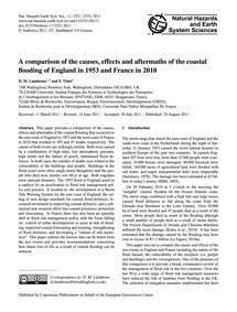 A Comparison of the Causes, Effects and ... by Lumbroso, D. M.