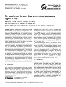 Wet Snow Hazard for Power Lines: a Forec... by Bonelli, P.