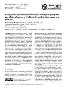 Using Ground Based Radar Interferometry ... by Del Ventisette, C.