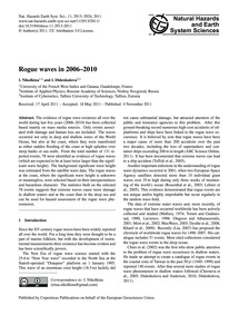 Rogue Waves in 2006–2010 : Volume 11, Is... by Nikolkina, I.