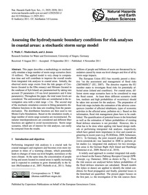 Assessing the Hydrodynamic Boundary Cond... by Wahl, T.