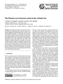 The Henetus Wave Forecast System in the ... by Bertotti, L.