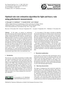 Optimal Rain Rate Estimation Algorithm f... by Elmzoughi, A.