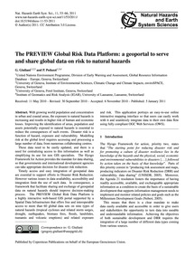 The Preview Global Risk Data Platform: a... by Giuliani, G.