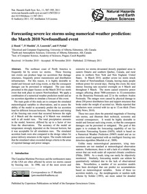 Forecasting Severe Ice Storms Using Nume... by Hosek, J.