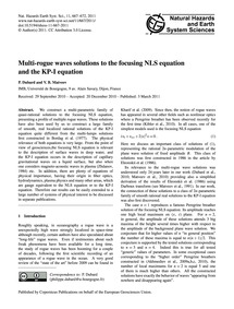 Multi-rogue Waves Solutions to the Focus... by Dubard, P.