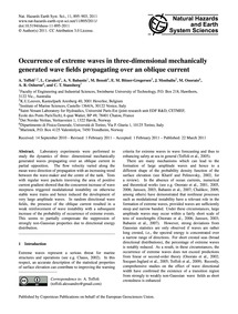 Occurrence of Extreme Waves in Three-dim... by Toffoli, A.