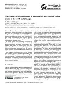 Association Between Anomalies of Moistur... by Müller, M.