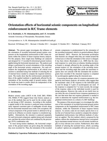 Orientation Effects of Horizontal Seismi... by Kostinakis, K. G.