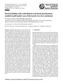 Flood Modelling with a Distributed Event... by Coustau, M.