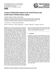Analysis of Flash Flood Regimes in the N... by Tarolli, P.