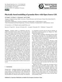 Physically-based Modelling of Granular F... by Mergili, M.