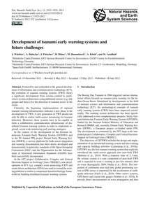 Development of Tsunami Early Warning Sys... by Wächter, J.