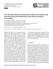 Late Holocene Landscape Change History R... by Langridge, R. M.