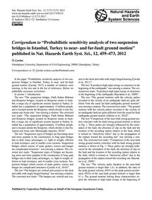 Corrigendum to Probabilistic Sensitivity... by Çavdar, Ö.