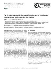 Verification of Ensemble Forecasts of Me... by Chaboureau, J.-p.