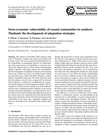 Socio-economic Vulnerability of Coastal ... by Willroth, P.