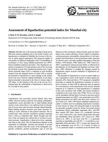 Assessment of Liquefaction Potential Ind... by Dixit, J.