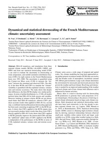 Dynamical and Statistical Downscaling of... by Vrac, M.