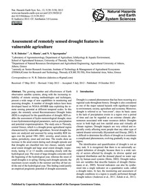 Assessment of Remotely Sensed Drought Fe... by Dalezios, N. R.