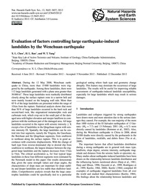 Evaluation of Factors Controlling Large ... by Chen, X. L.