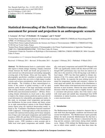 Statistical Downscaling of the French Me... by Lavaysse, C.