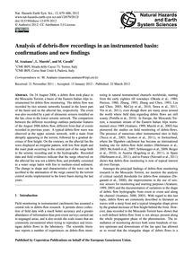 Analysis of Debris-flow Recordings in an... by Arattano, M.