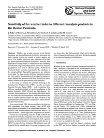 Sensitivity of Fire Weather Index to Dif... by Bedia, J.