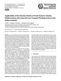 Applicability of the Decision Matrix of ... by Tinti, S.