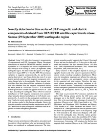 Novelty Detection in Time Series of Ulf ... by Akhoondzadeh, M.