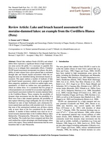 Review Article: Lake and Breach Hazard A... by Emmer, A.