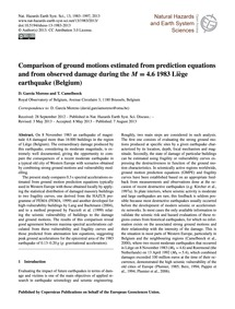 Comparison of Ground Motions Estimated f... by García Moreno, D.