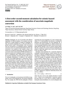 A First-order Second-moment Calculation ... by Wang, J. P.