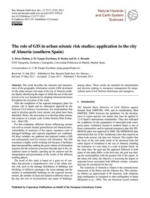 The Role of Gis in Urban Seismic Risk St... by Rivas-medina, A.