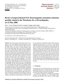 Review of Unprecedented Ulf Electromagne... by Li, M.