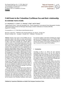 Cold Fronts in the Colombian Caribbean S... by Ortiz-royero, J. C.