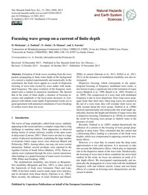 Focusing Wave Group on a Current of Fini... by Merkoune, D.
