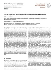 Social Capacities for Drought Risk Manag... by Kruse, S.