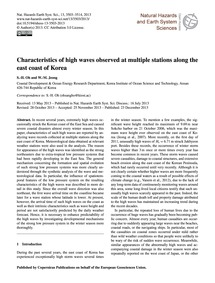 Characteristics of High Waves Observed a... by Oh, S.-h.
