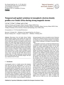 Temporal and Spatial Variations in Ionos... by Yao, Y. B.