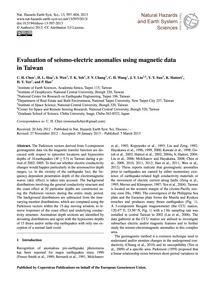Evaluation of Seismo-electric Anomalies ... by Chen, C. H.