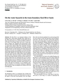 On the Water Hazards in the Trans-bounda... by Chen, N. Sh.