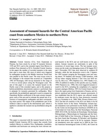 Assessment of Tsunami Hazards for the Ce... by Brizuela, B.