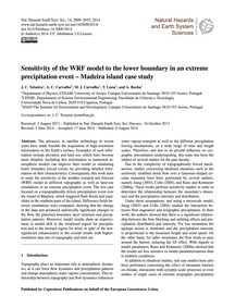 Sensitivity of the Wrf Model to the Lowe... by Teixeira, J. C.